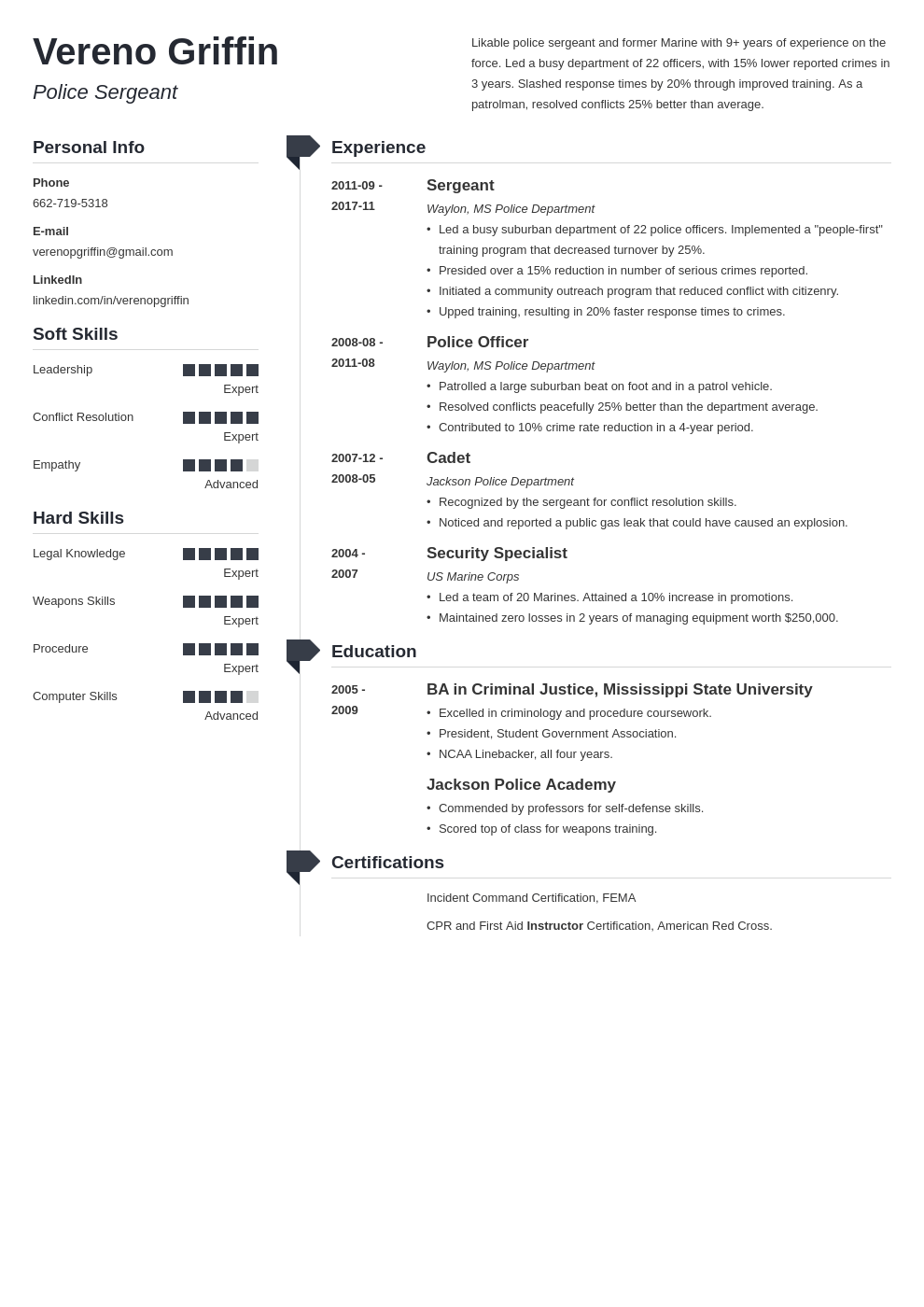 police officer resume example template muse