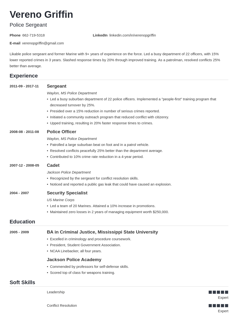 police officer resume example template nanica