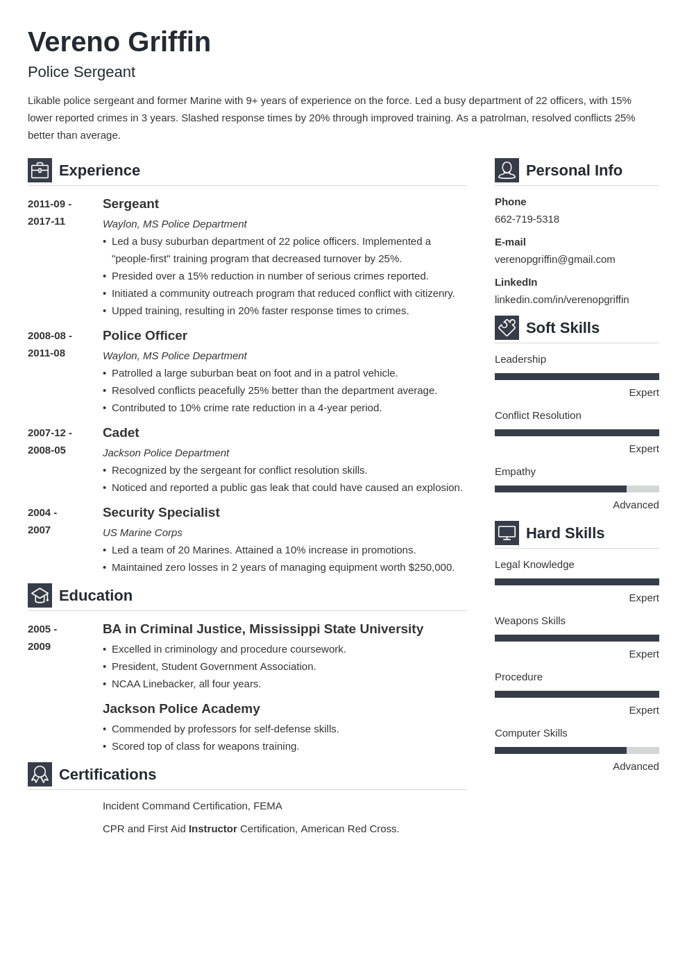 police officer resume example template vibes