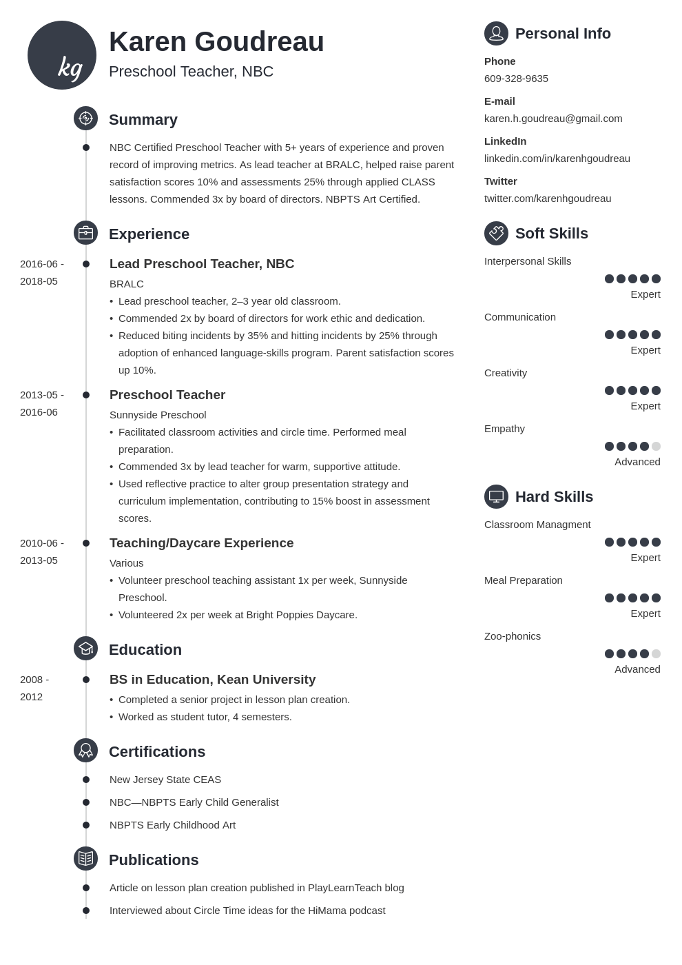 preschool teacher resume example template primo