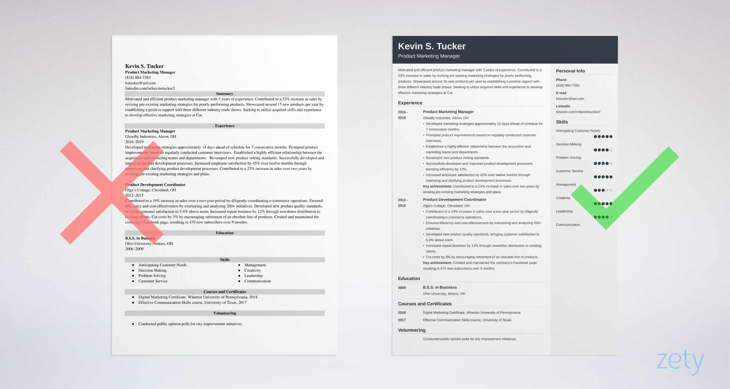 product marketing manager resume templates