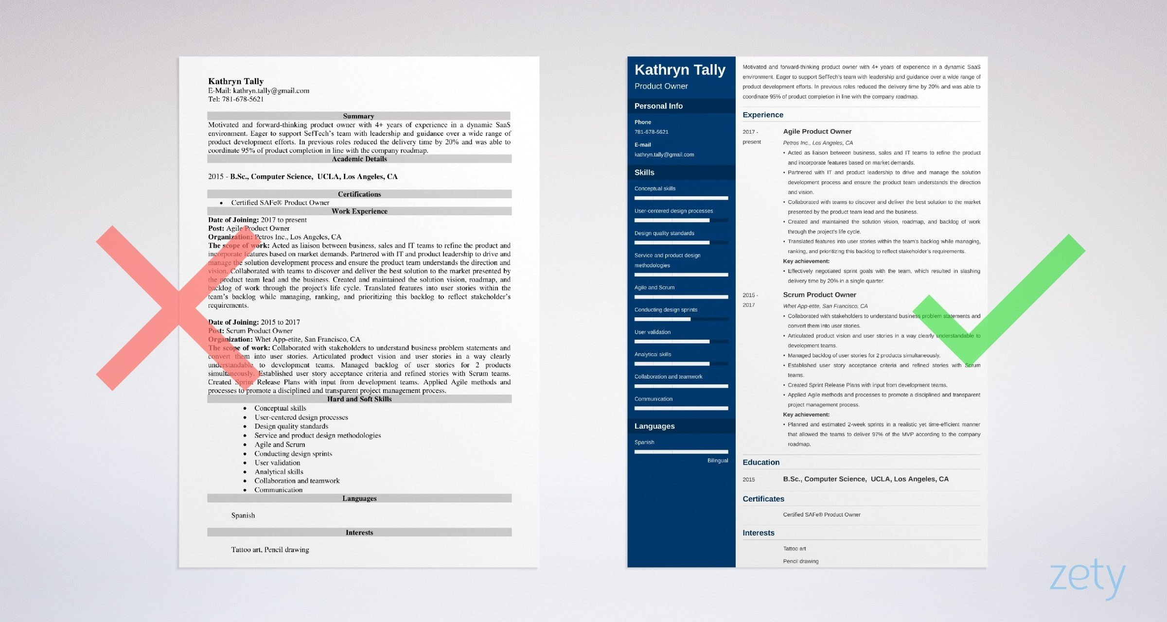 Product Owner Resume Sample Writing Guide 20 Tips