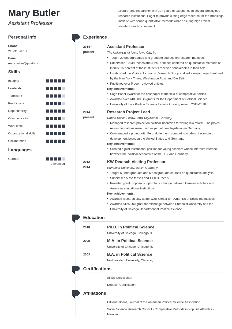 professor resume example template muse