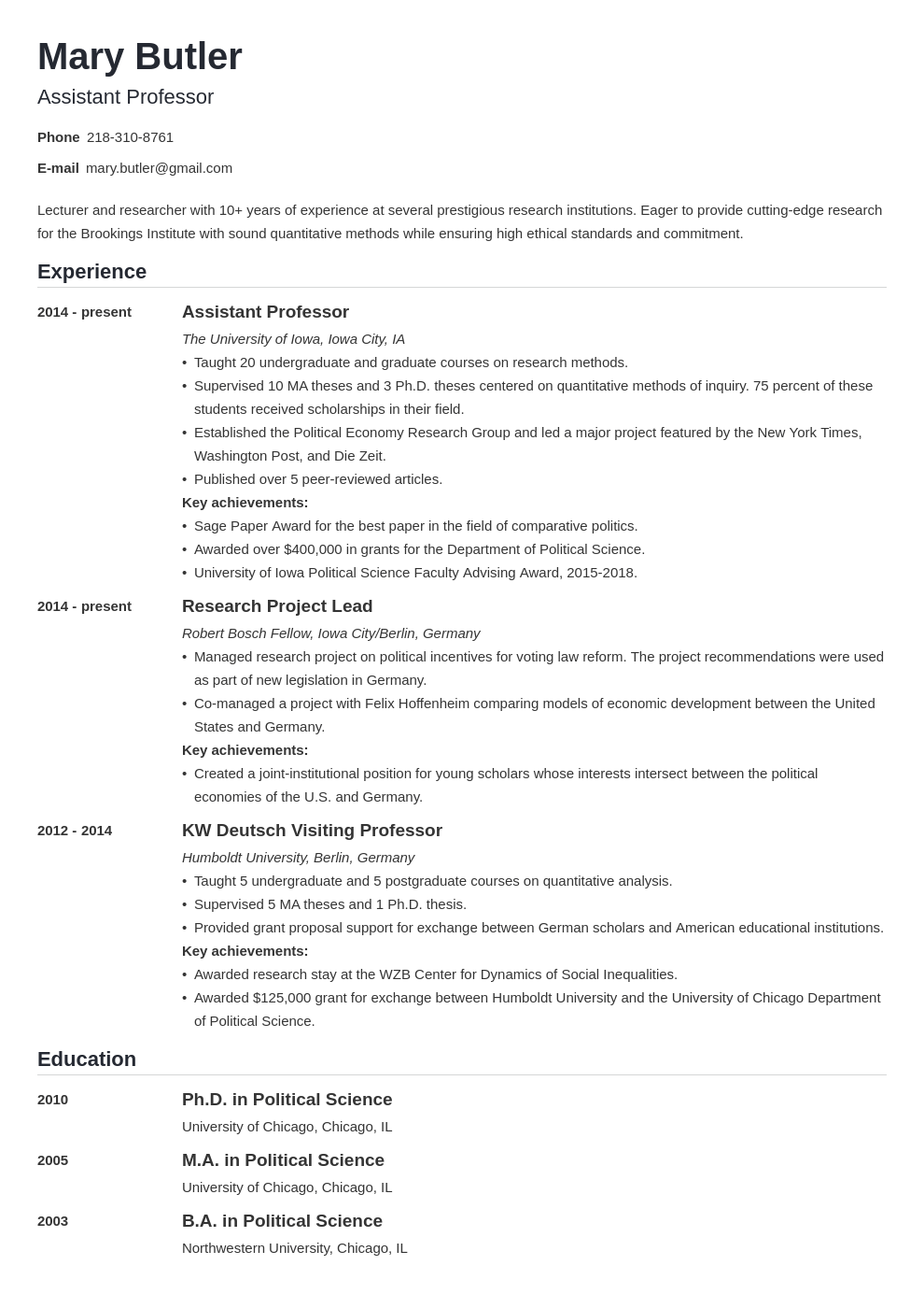 professor resume example template nanica