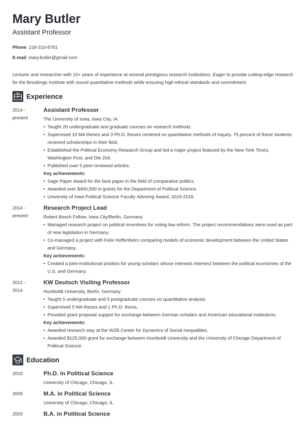 professor resume example template newcast