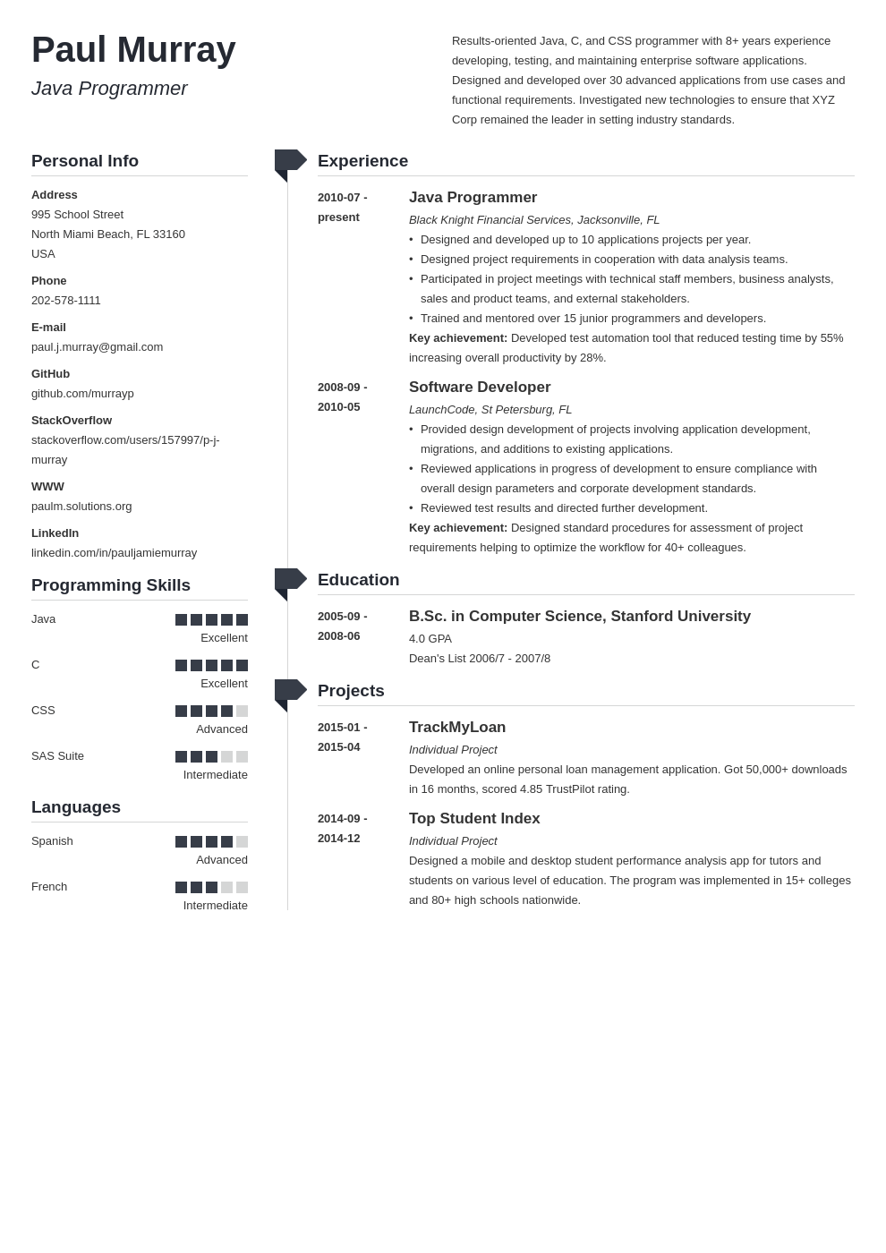 Programmer Resume Examples Template Guide