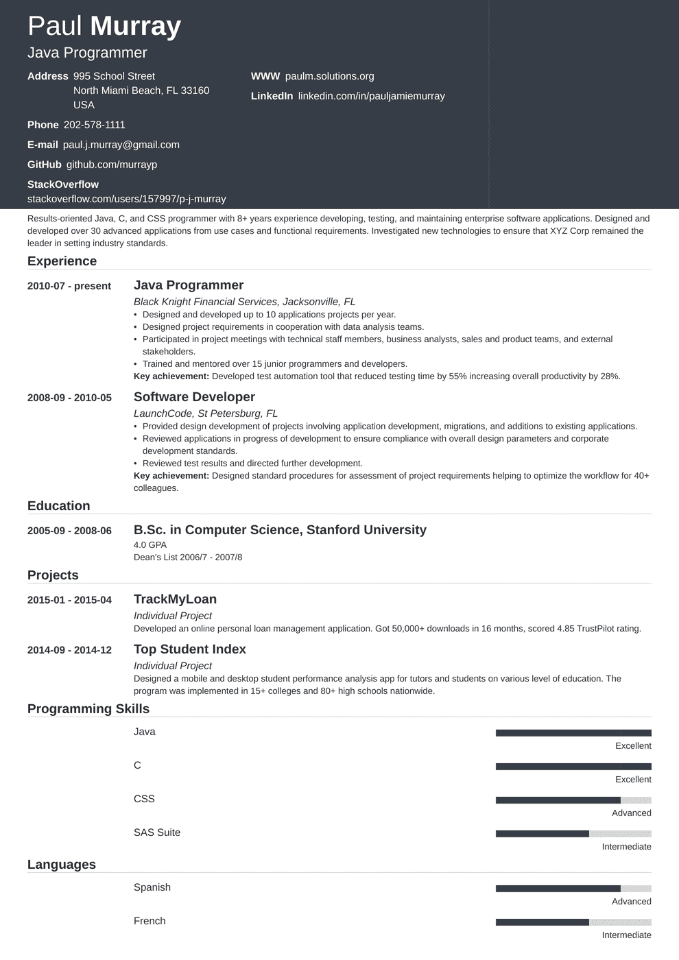 Programmer Resume: Sample & Complete Guide [20+ Examples]