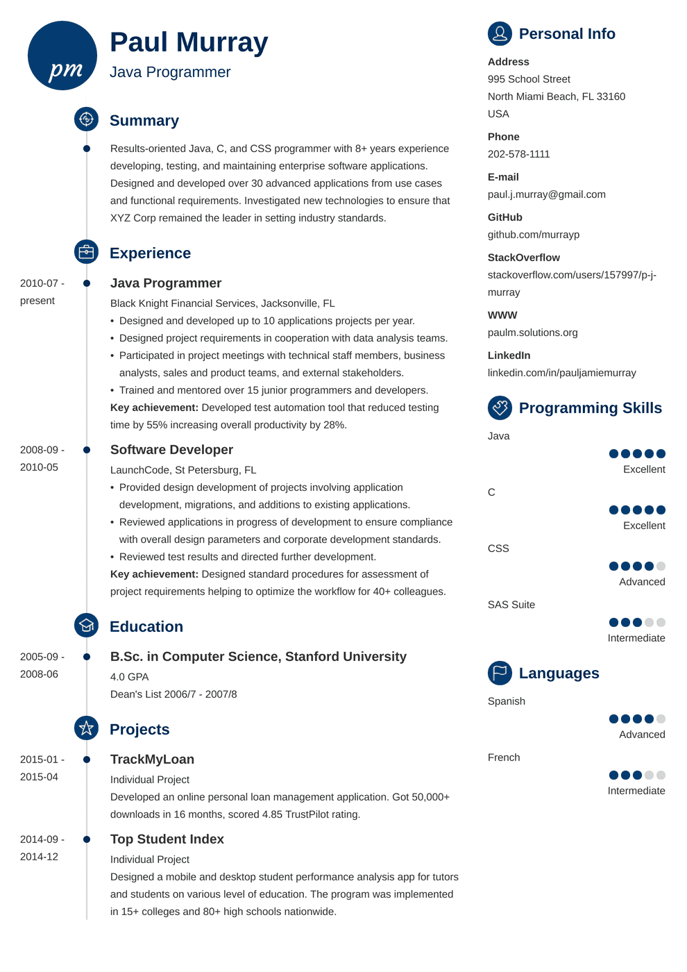Programmer Resume Sample Complete Guide 20 Examples