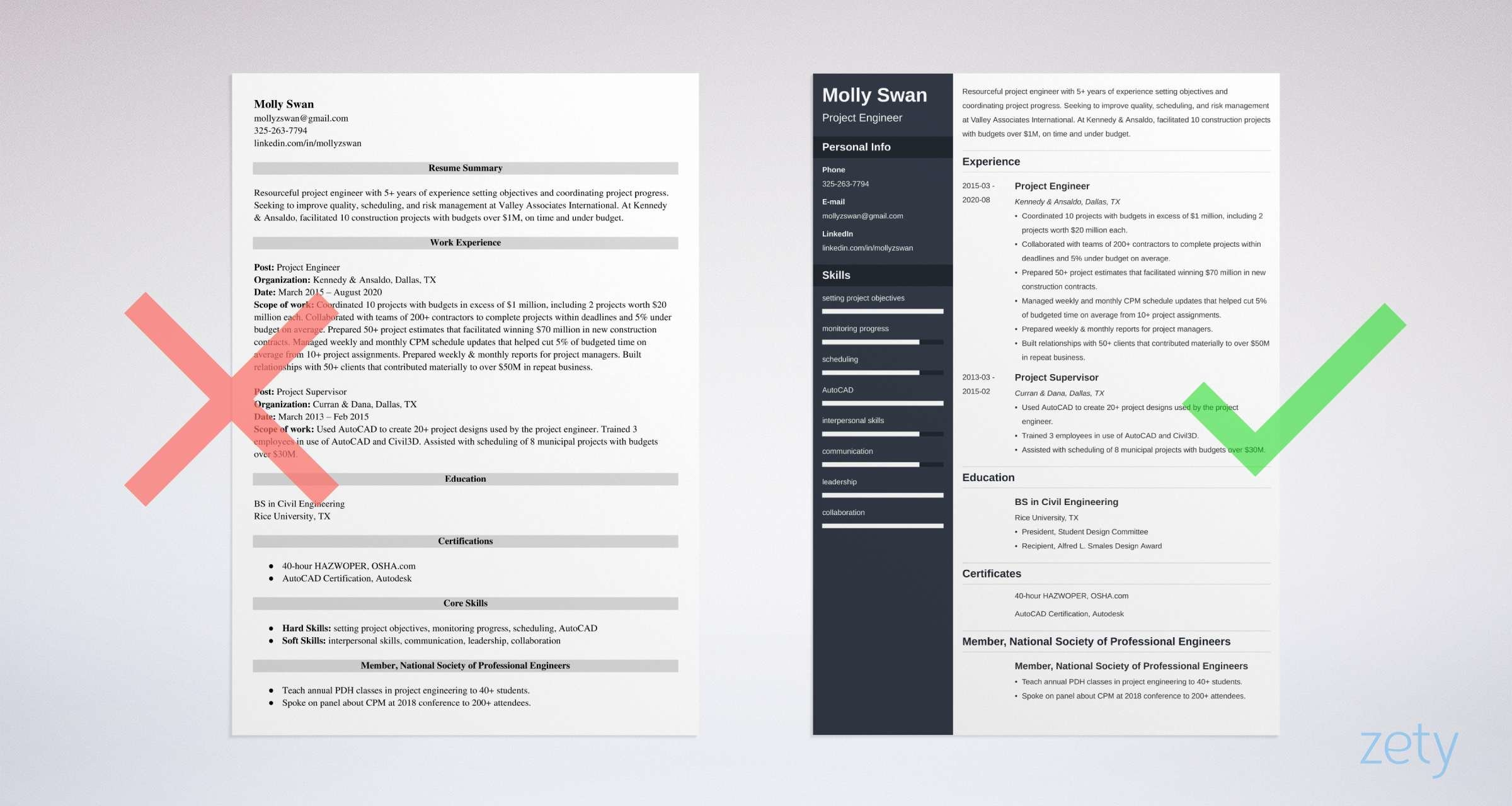 project engineer resume templates