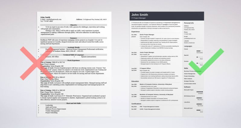 Good Resume Examples For Jobs: 99+ Free Sample Resumes