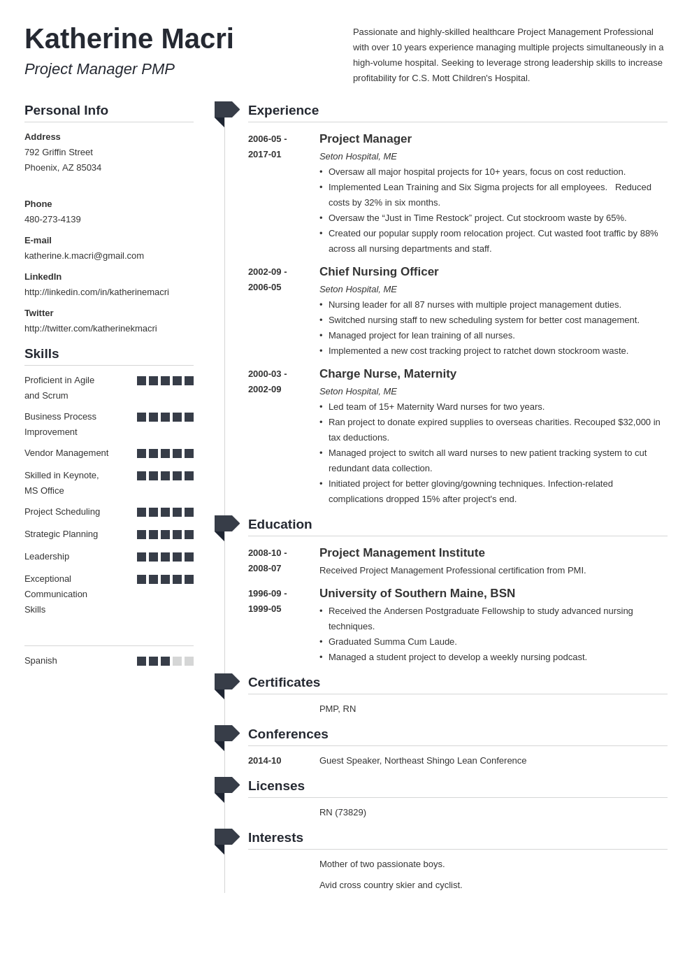 project manager resume template muse