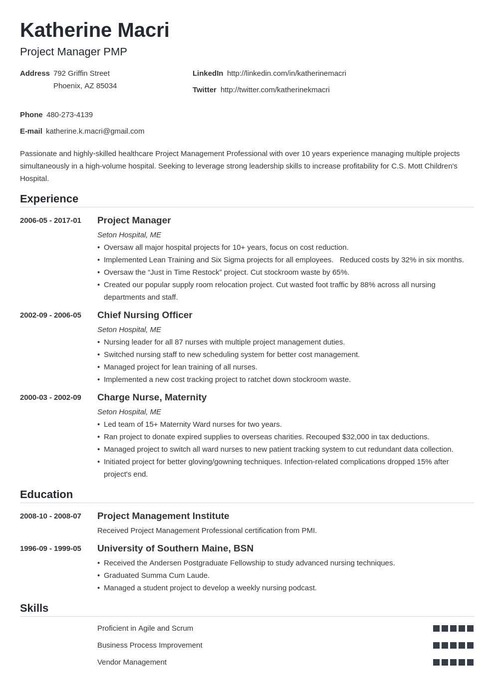 Project management resume highlights customer service coordinator resume examples