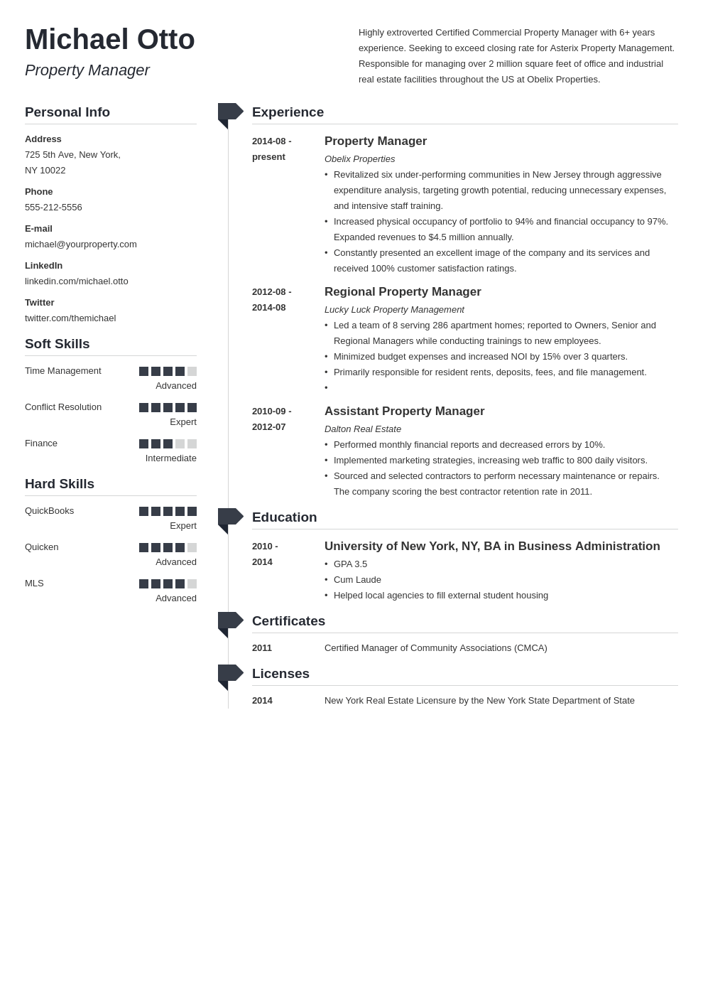 property manager resume example template muse