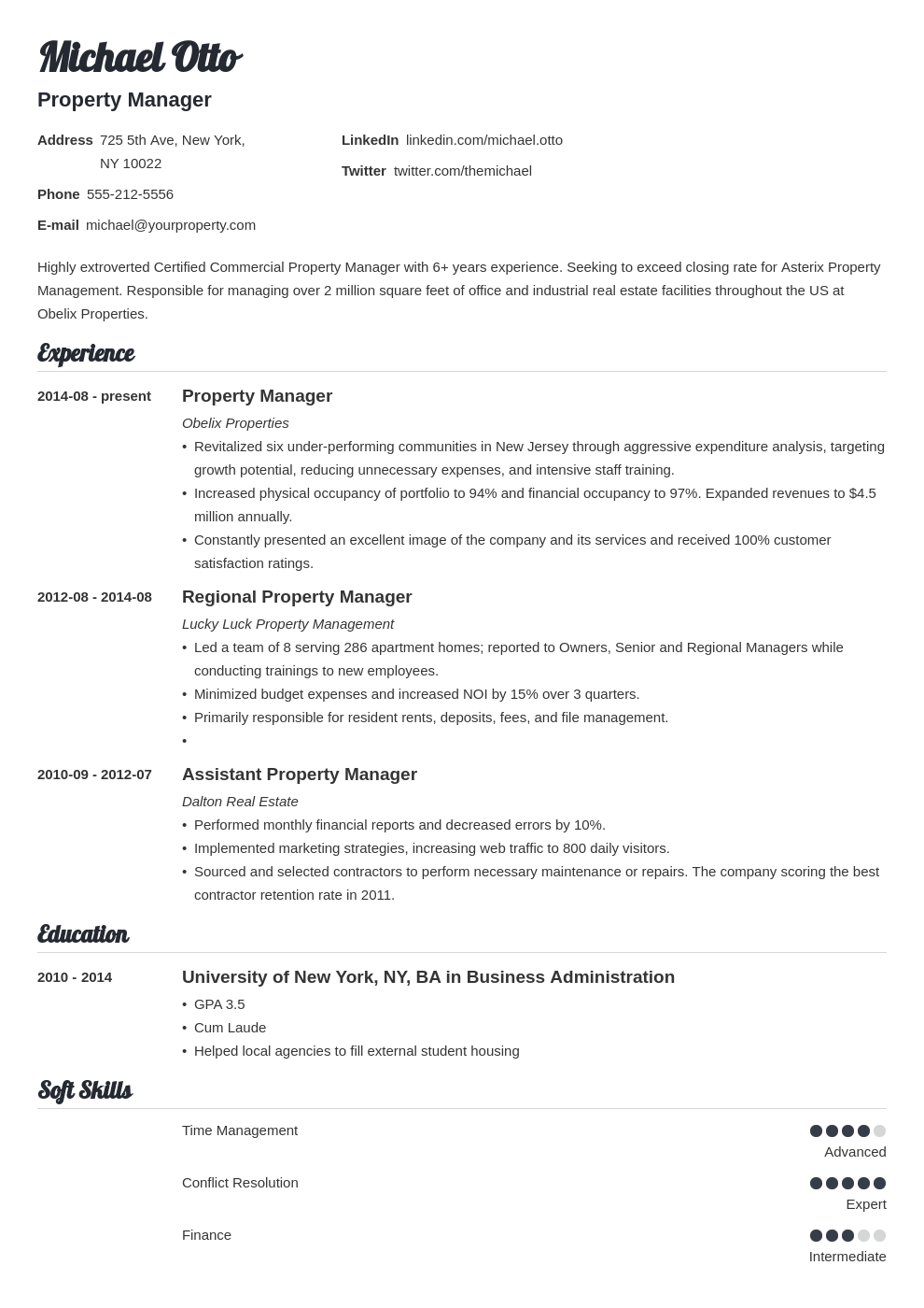 Property Manager Resume Sample Job Description 20 Tips