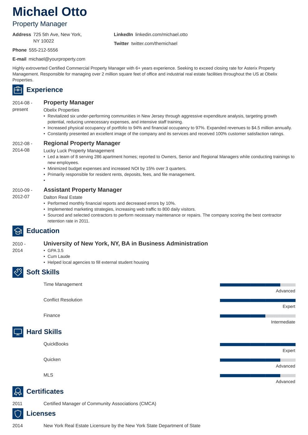 Property Manager Resume: Sample & Complete Guide [20+ Examples]