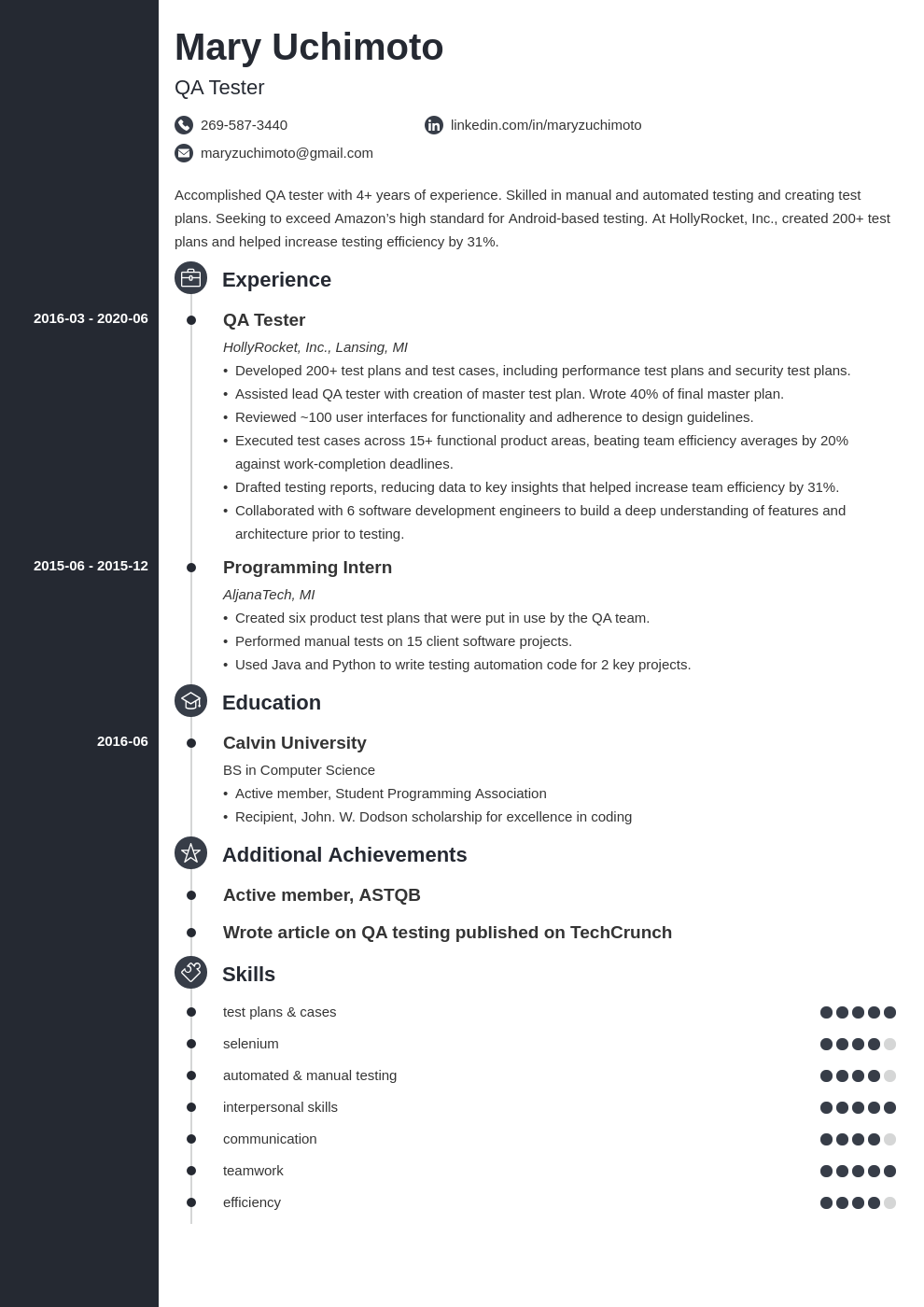 qa tester resume examples and complete guide 10 tips