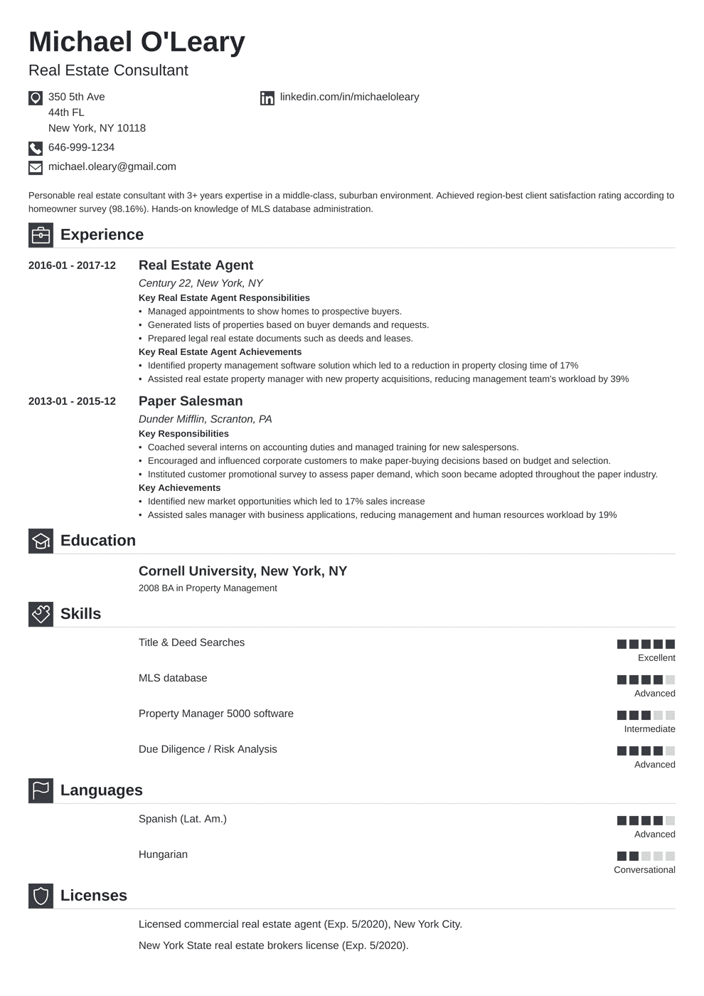 Real Estate Resume | Real Estate Resume Sample Complete Guide 20 Examples