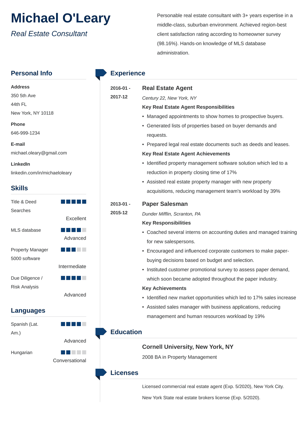Real Estate Resume: Sample & Complete Guide [20+ Examples]