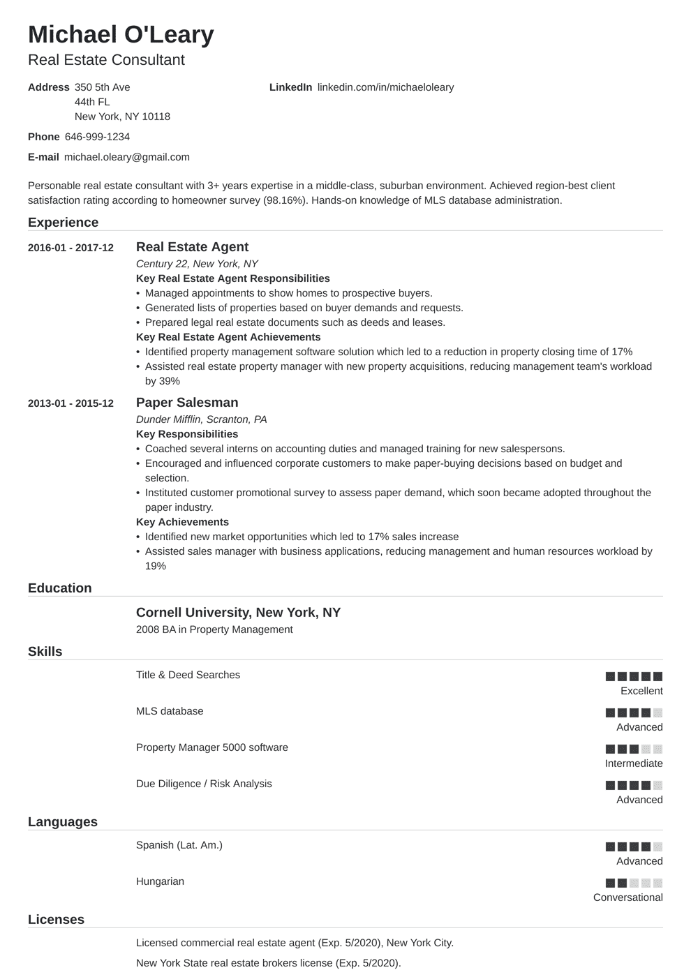 17 awesome real estate administrative assistant resume