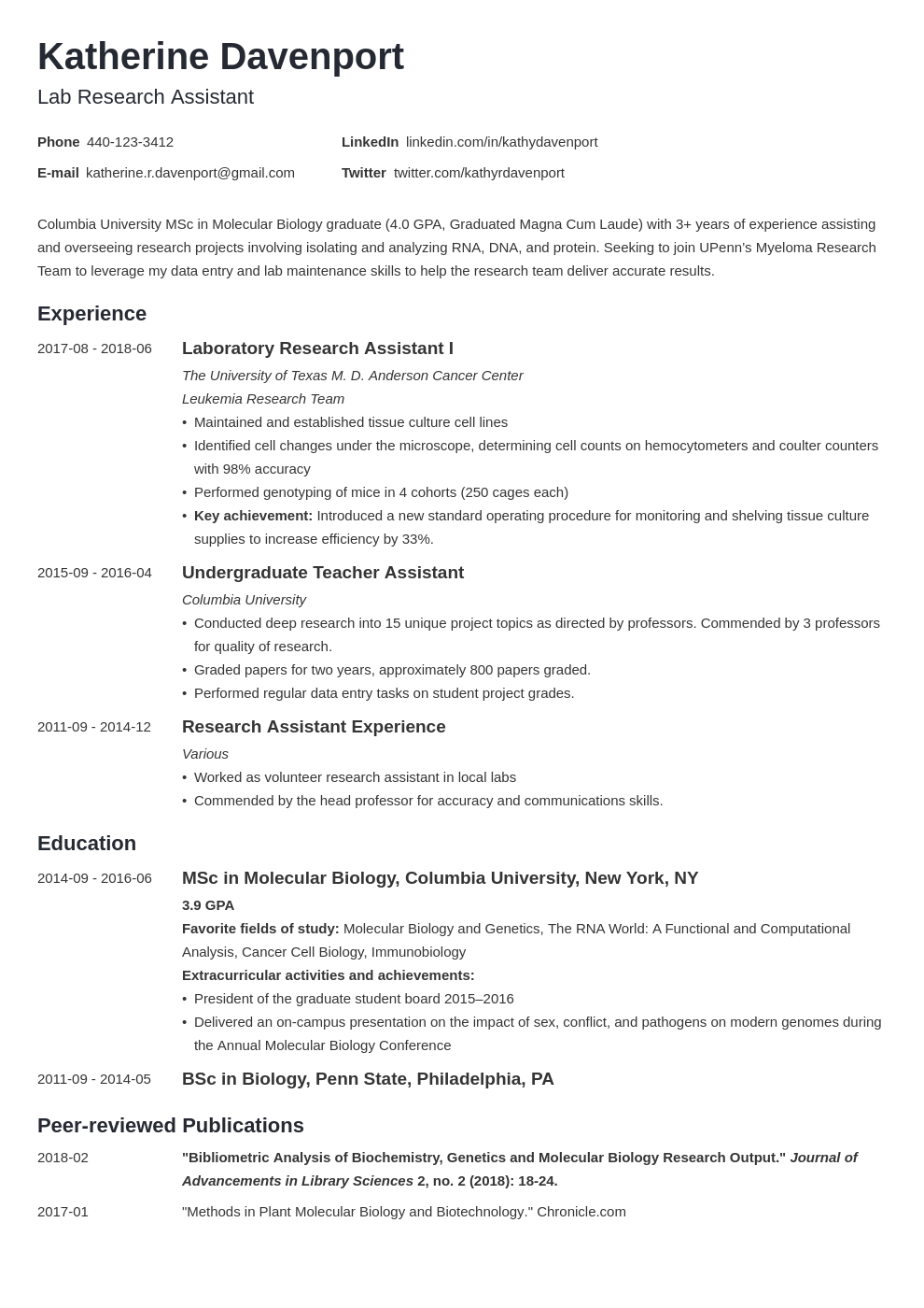 research assistant resume example template minimo