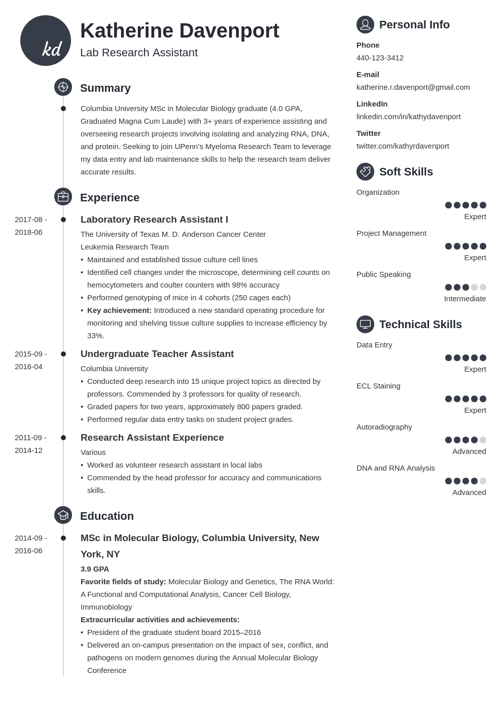 research assistant resume example template primo
