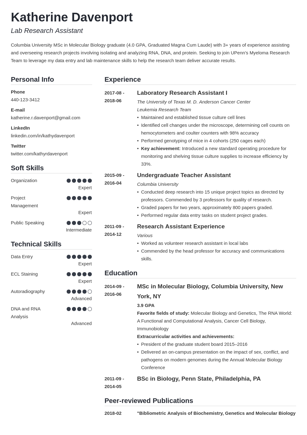 research assistant resume example template simple