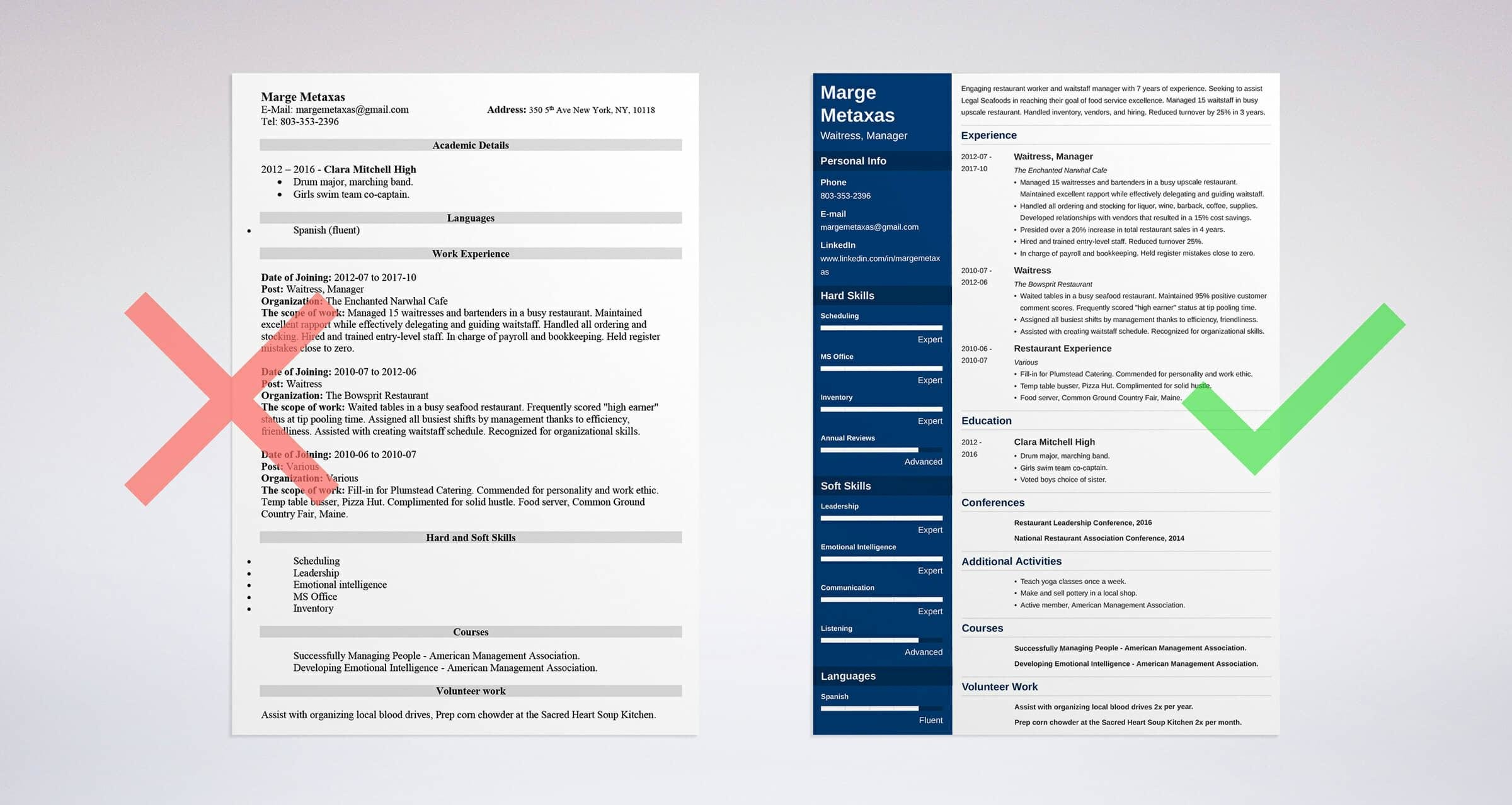 Restaurant Resume Sample And Complete Guide 20 Examples