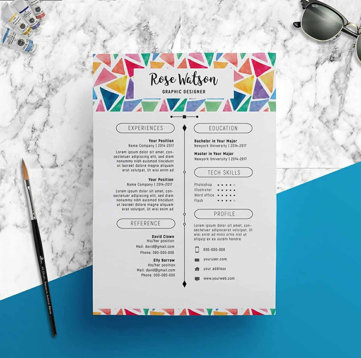 Colorful Resume Design Inspiration