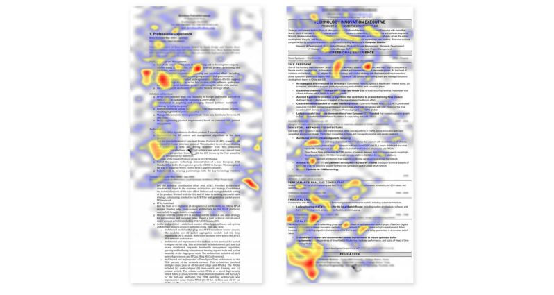 resume eye tracking study