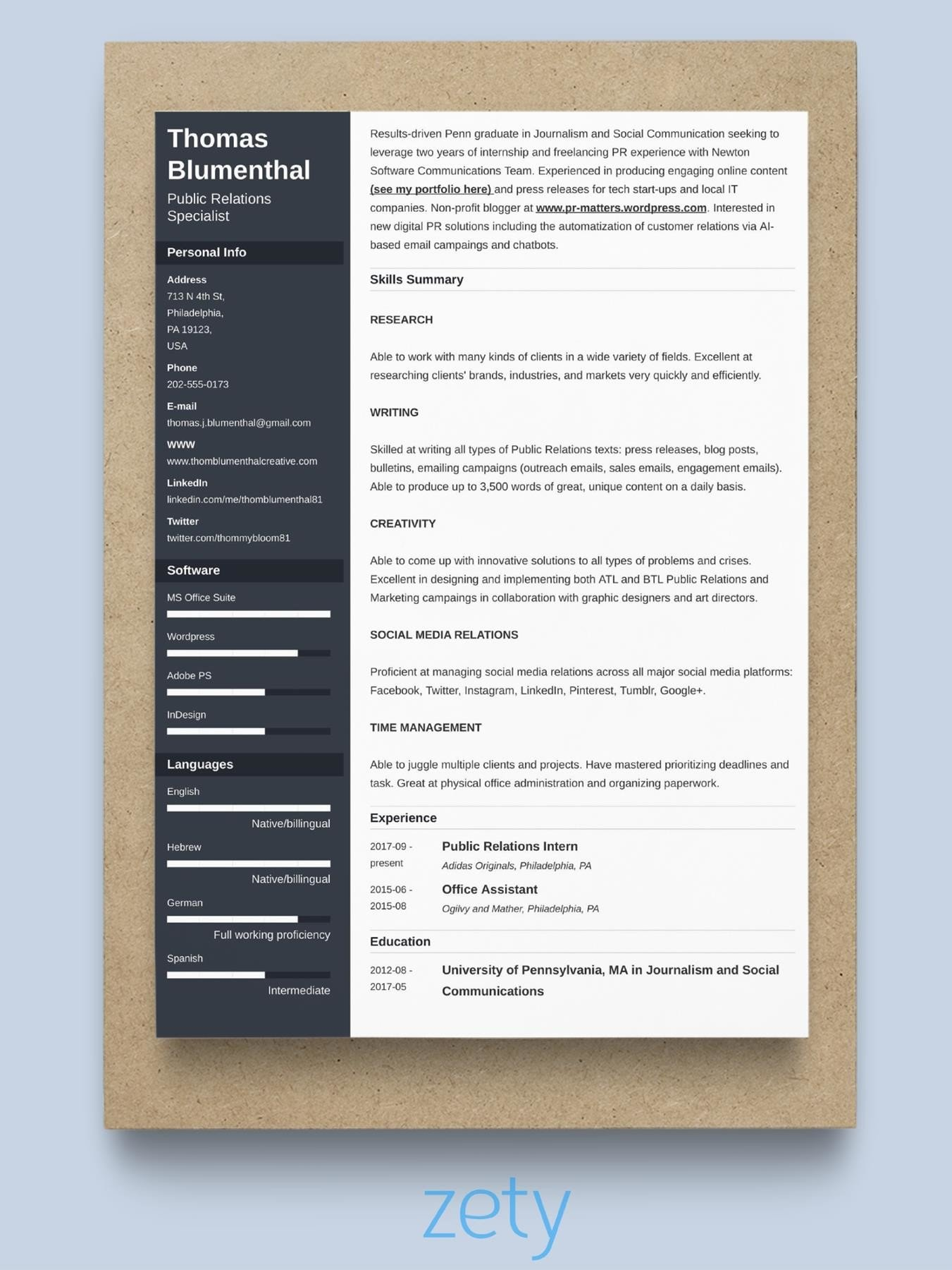 best resume format  10  samples for all types of resumes