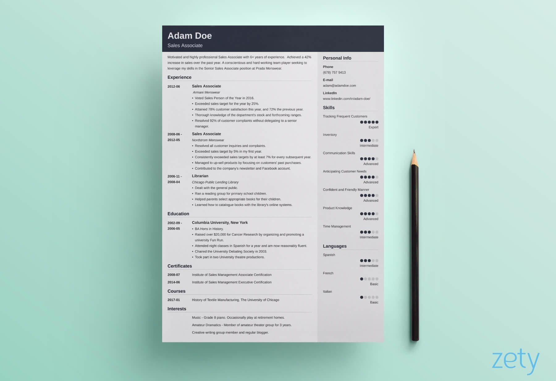 Create the perfect resume