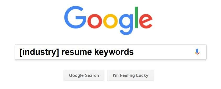 Find resume keywords in Google