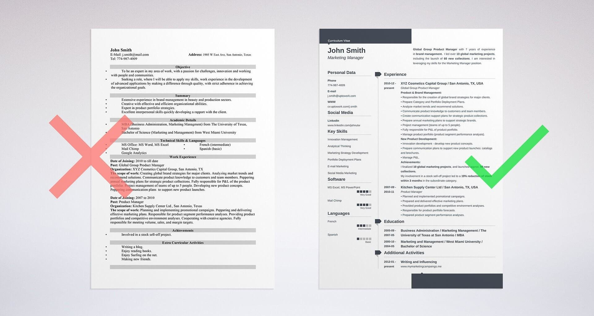 resume objective sample on our resume template