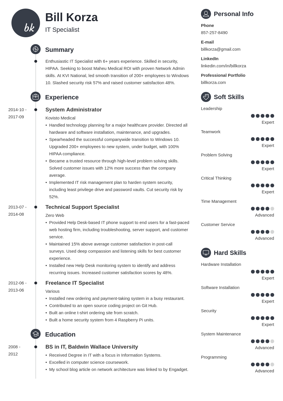19 Professional Resume Profile Examples & Section Template