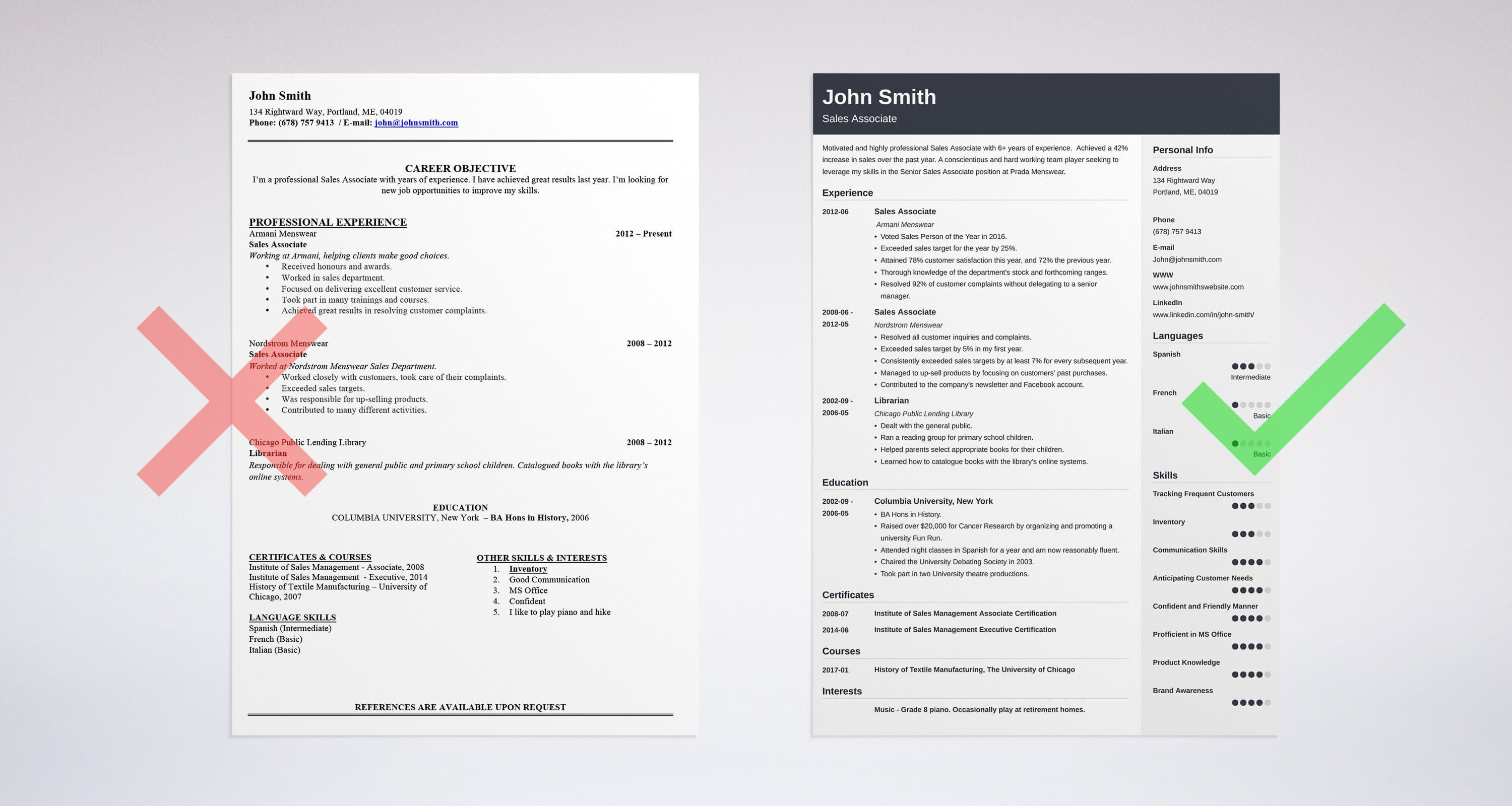 see how the resume summary sample stands out