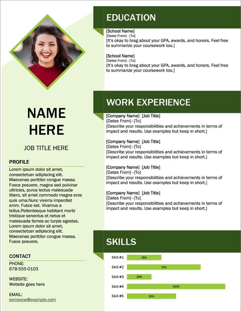 25 Resume Templates For Microsoft Word Free Download