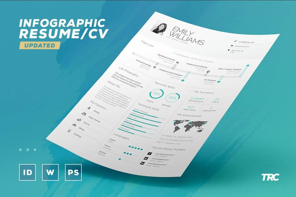 infographic resume template for microsoft word