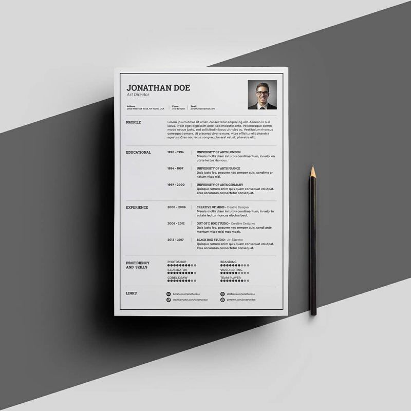 Free Resume Template For Microsoft Word With Universal Layout