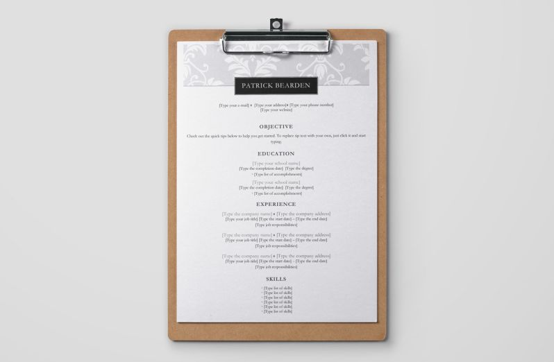 example of simple resume format in word with floral header - Simple Resume Format For Students