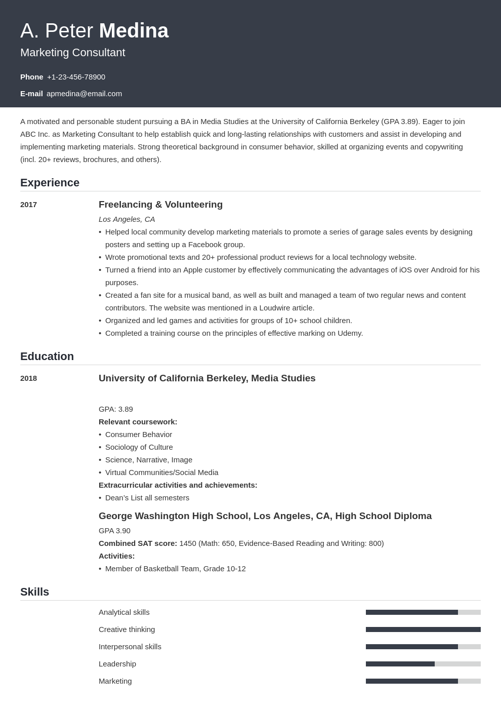 Resume with no past experience resume credit card experience