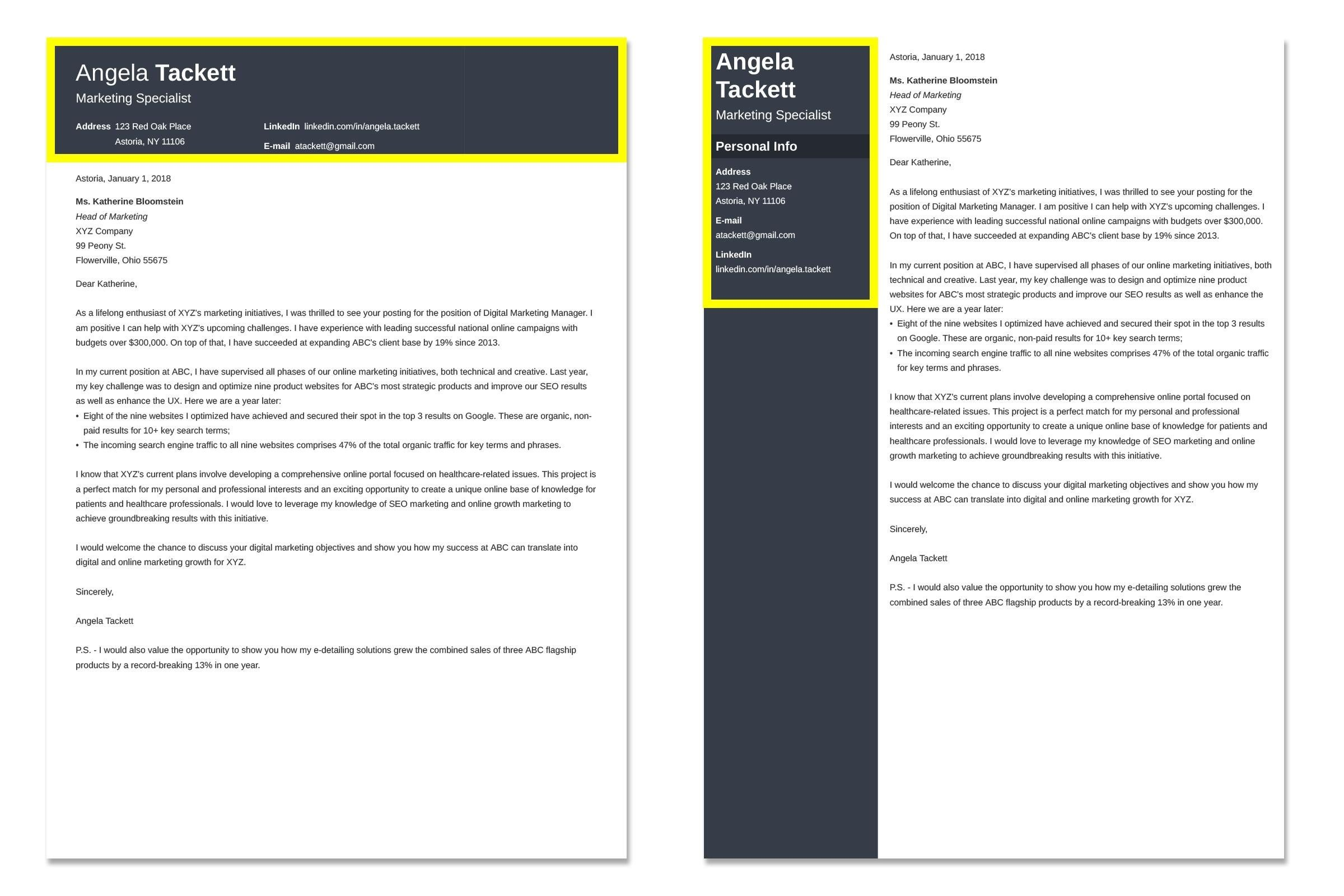 Accounting Cover Letter Example [Also for Senior Accountants]