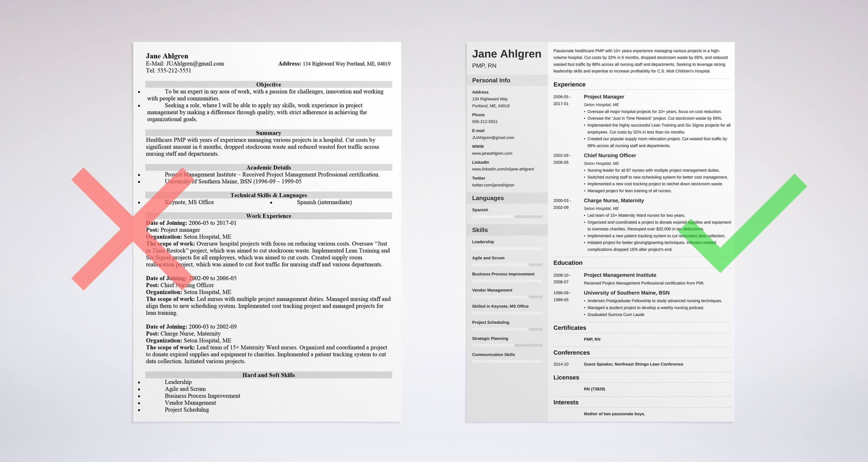 Resume Format 10 Samples Templates For All Types Of Resumes