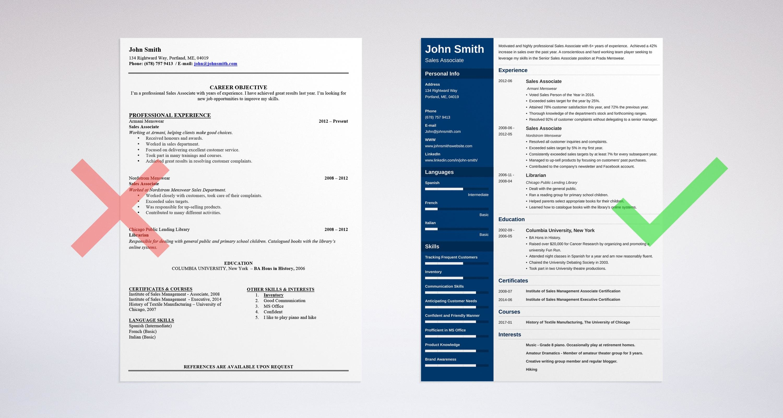sales associate resume sample complete guide 20 examples - I Need An Objective For My Resume