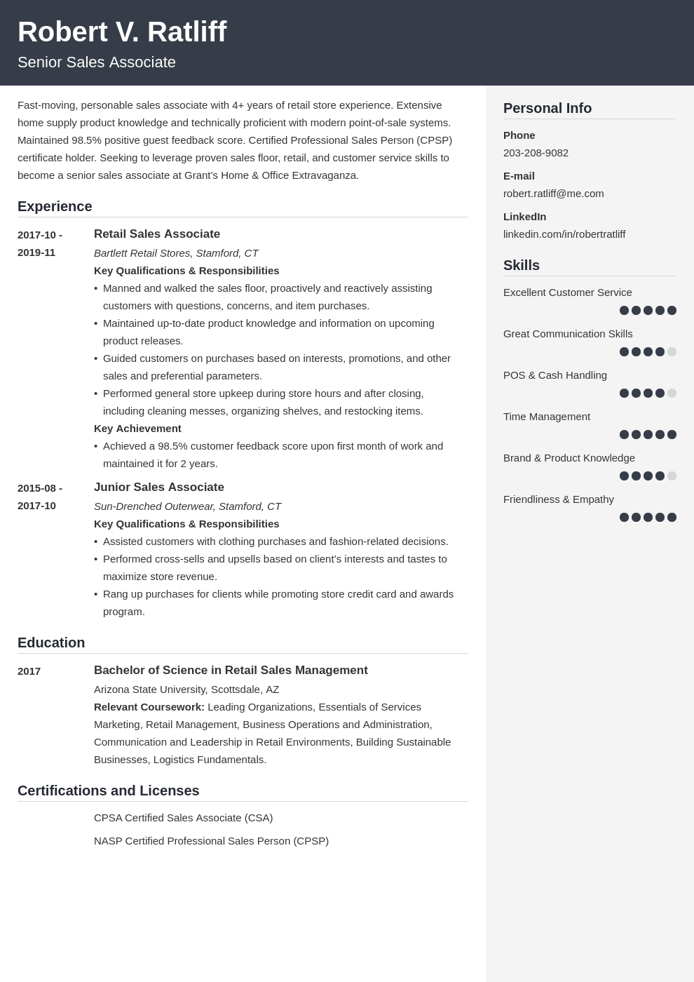 sales associate resume template cubic