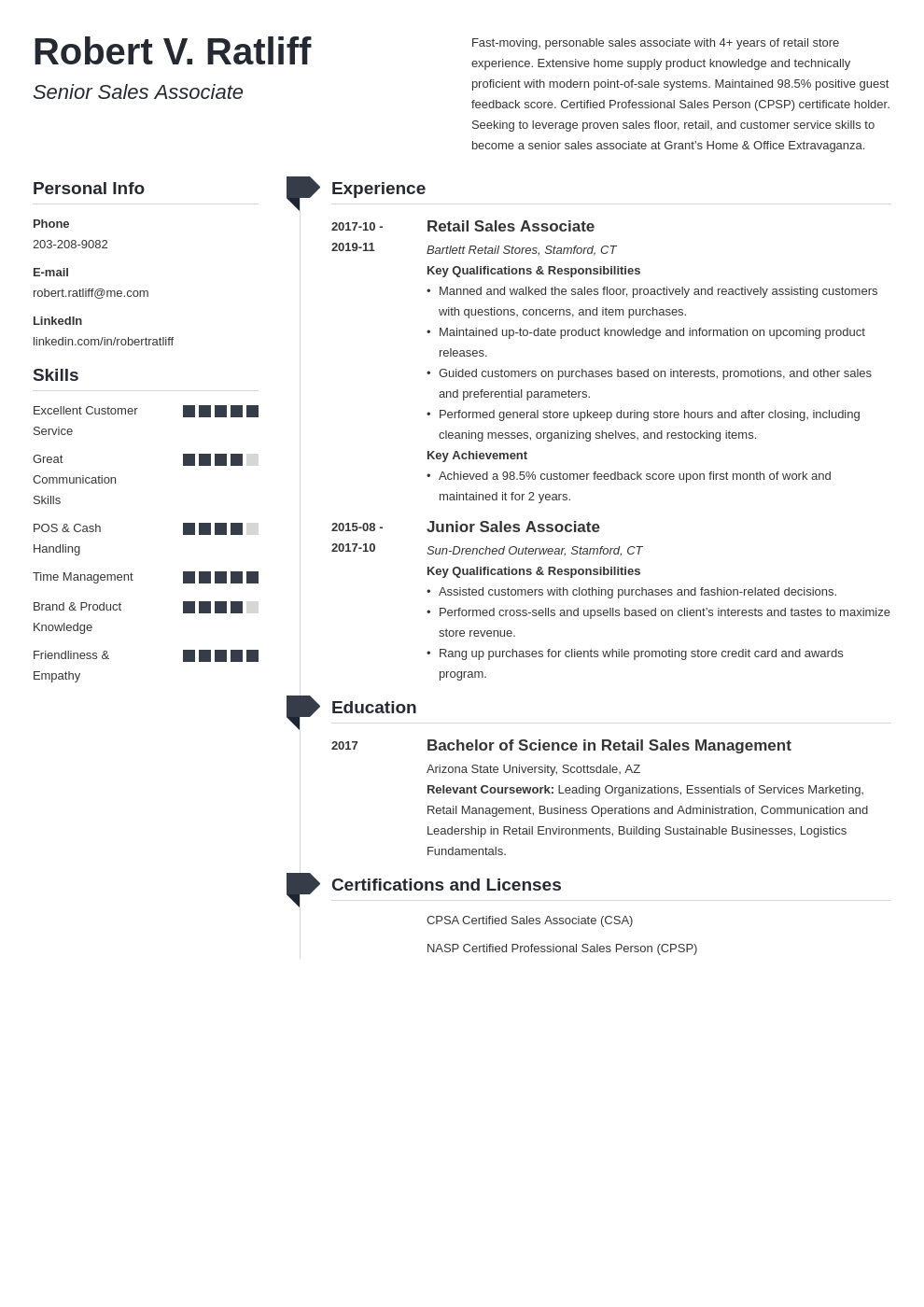 sales associate resume template muse