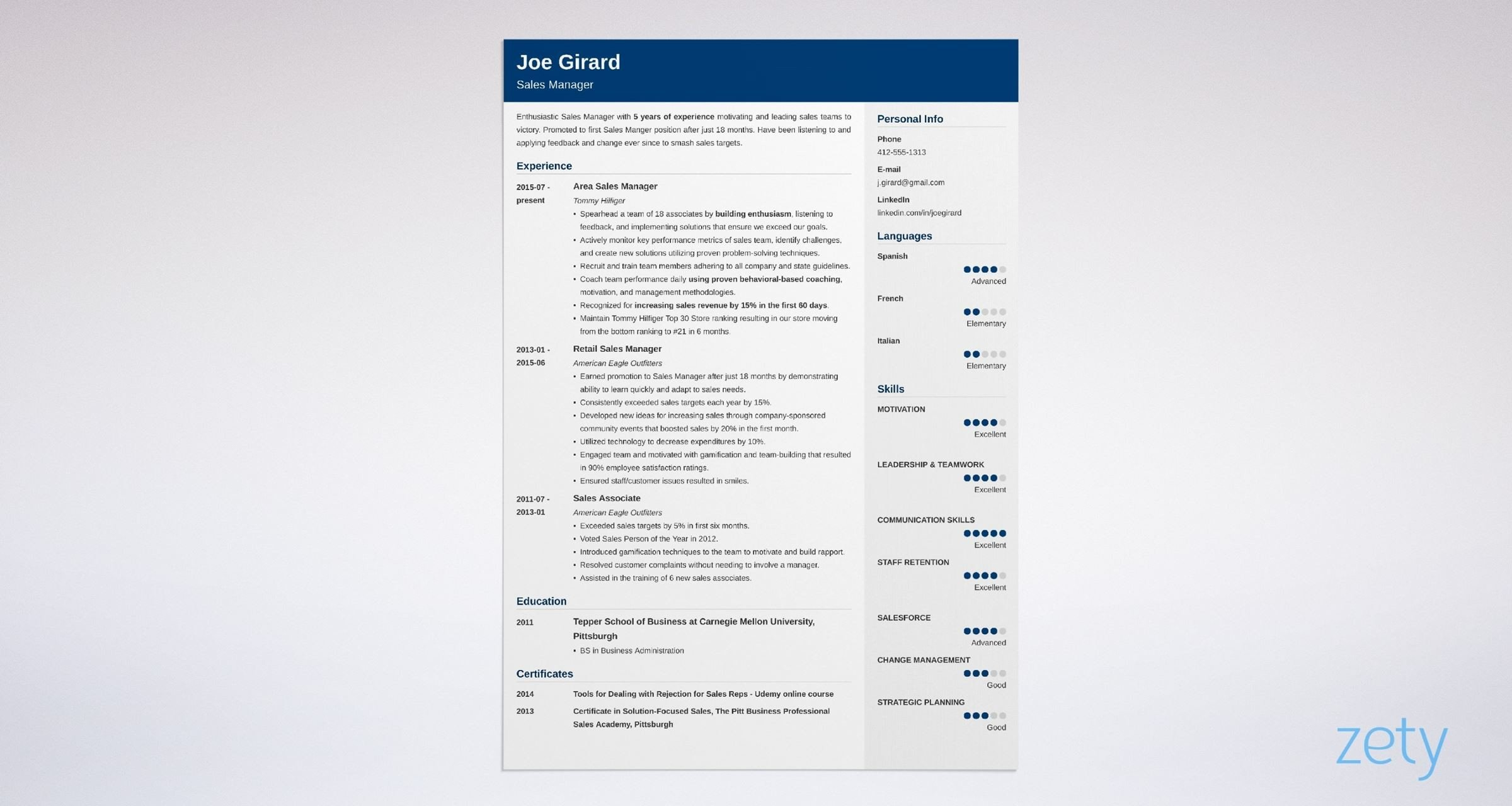 sales manager resume examples  templates  u0026 key skills