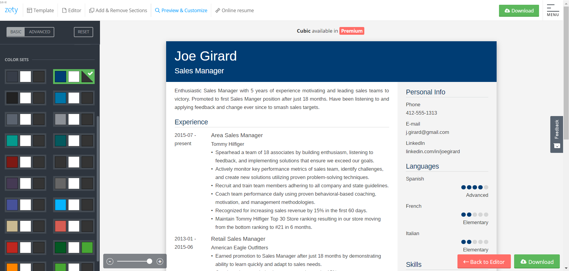 Sales Manager Resume Example Complete Guide 20 Examples