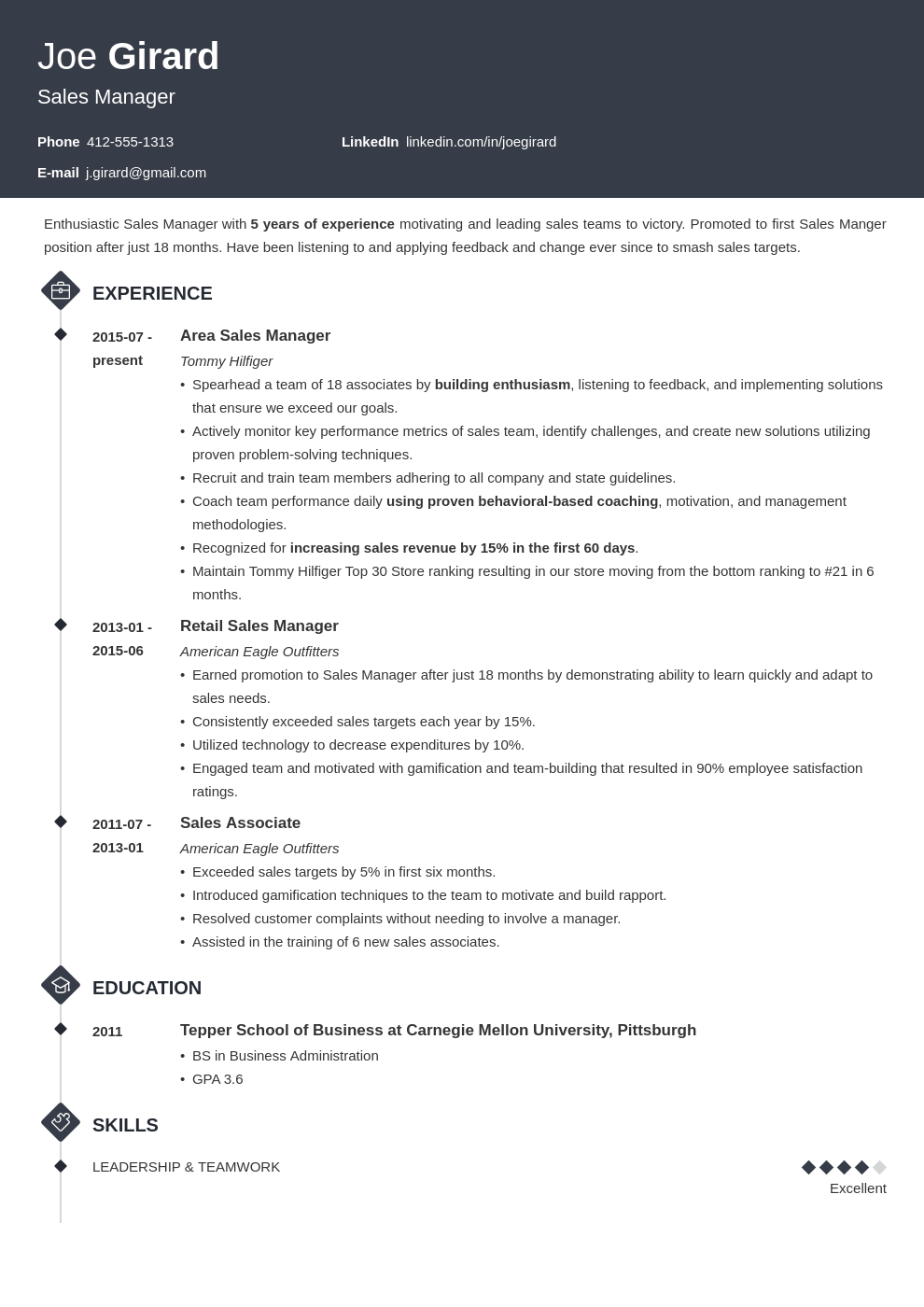 sales manager resume example template diamond
