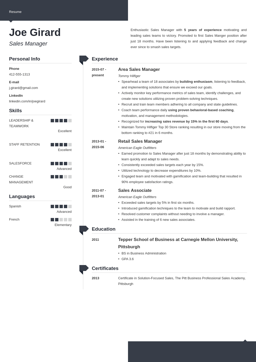 sales manager resume example template modern