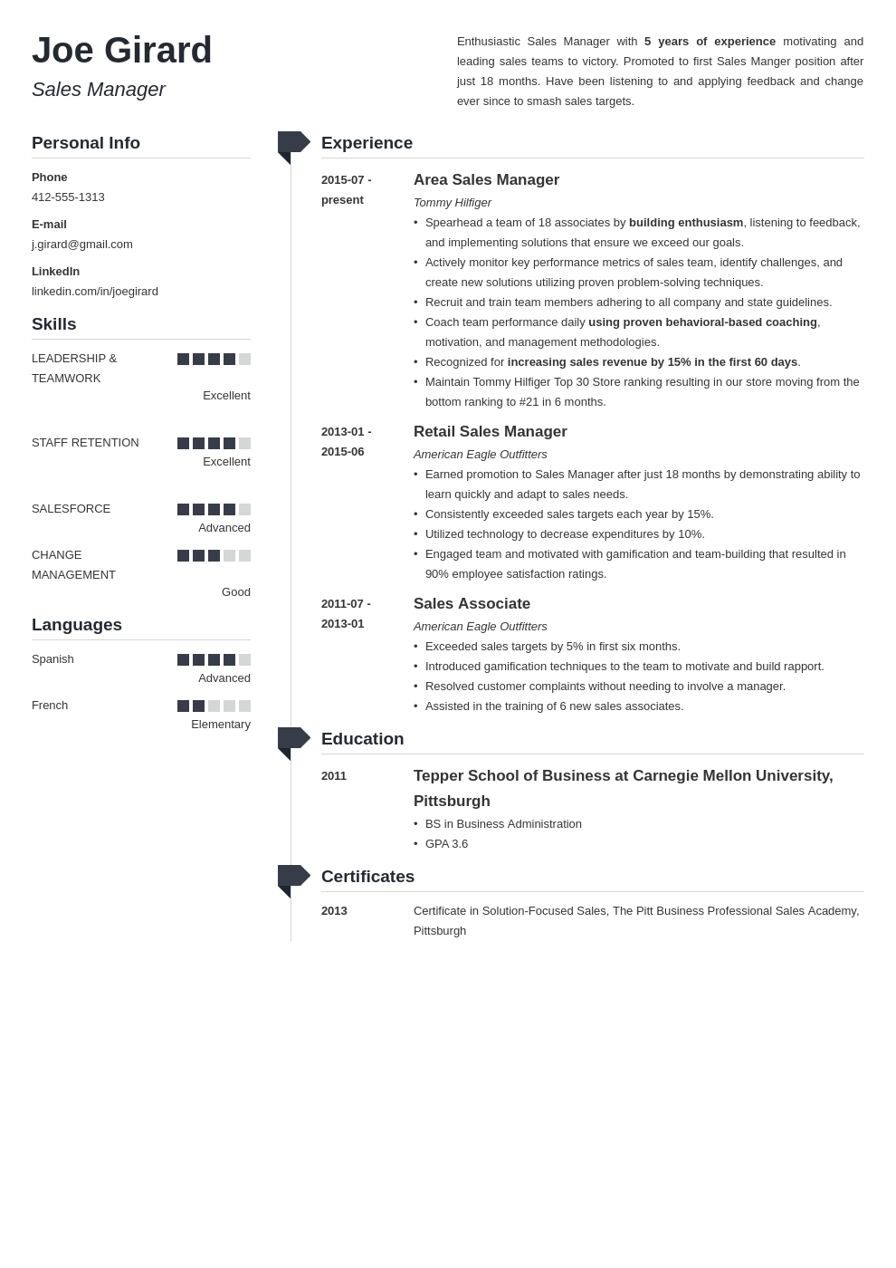 sales manager resume example template muse